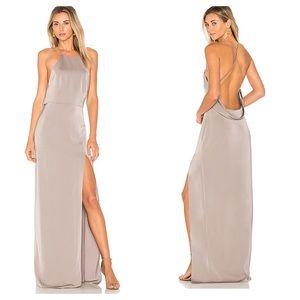 Lovers + Friends Sheila Gown in Dark Grey Size Sm